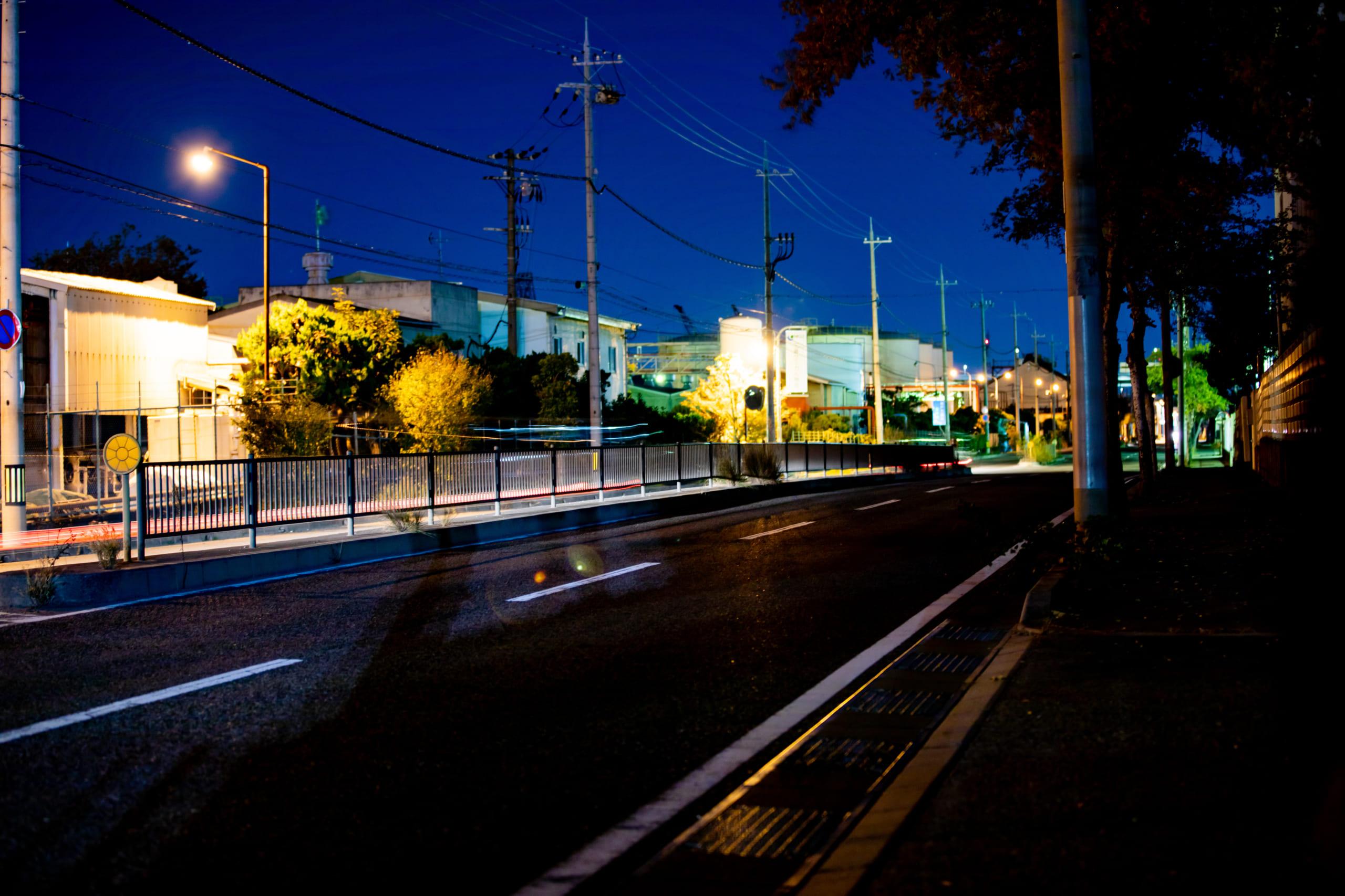 レンゴー尼崎工場:工場夜景写真