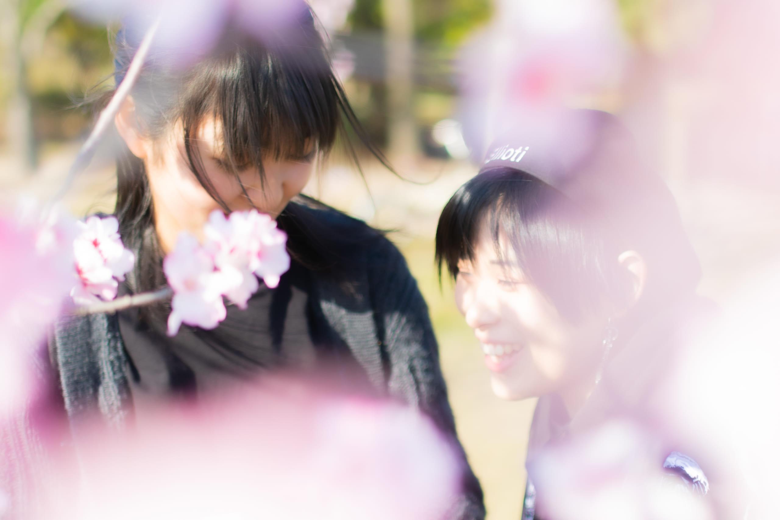 桜とポートレート-鶴見緑地公園